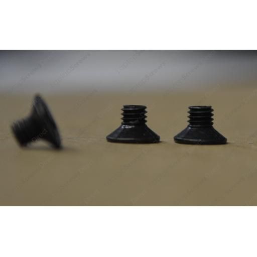 M3 x 4mm Black Countersunk Screws